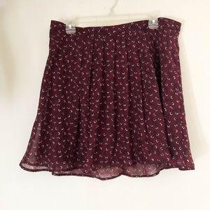 OLD NAVY Women's Mini Skirt SZ L Flared Chiffon